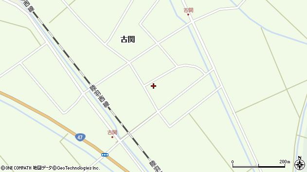 山形県東田川郡庄内町古関古館4周辺の地図