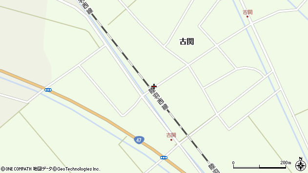 山形県東田川郡庄内町古関古館75周辺の地図