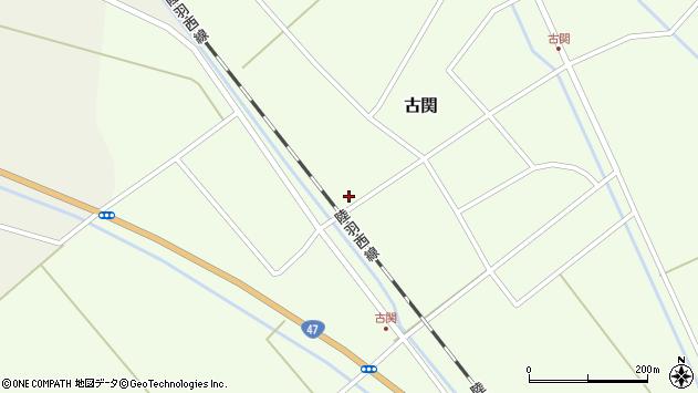 山形県東田川郡庄内町古関古館76周辺の地図