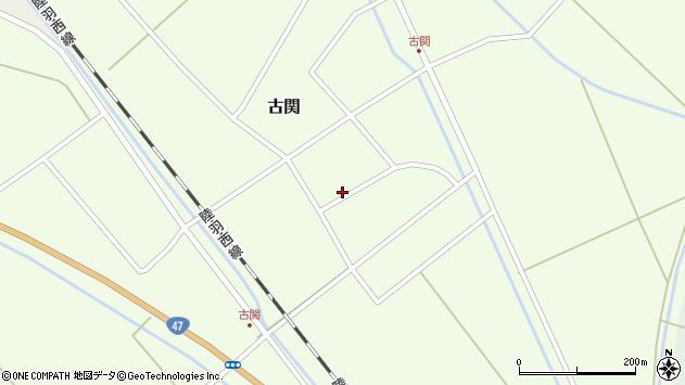 山形県東田川郡庄内町古関古館45周辺の地図