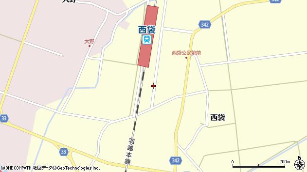 山形県東田川郡庄内町西袋駅前65周辺の地図