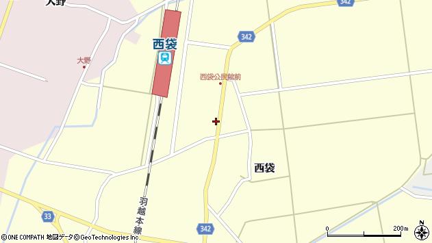 山形県東田川郡庄内町西袋駅前59周辺の地図
