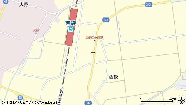 山形県東田川郡庄内町西袋駅前58周辺の地図