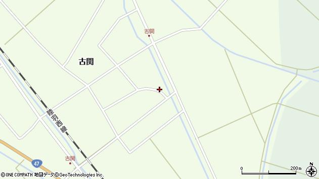 山形県東田川郡庄内町古関古館25周辺の地図