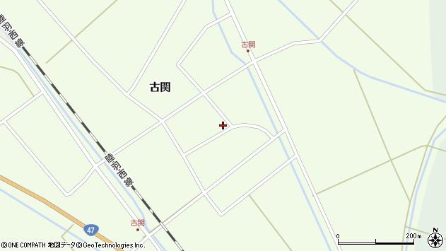 山形県東田川郡庄内町古関古館周辺の地図