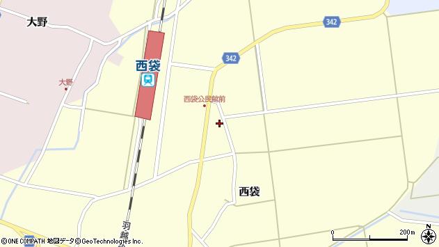 山形県東田川郡庄内町西袋深26周辺の地図