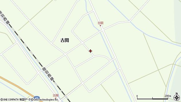 山形県東田川郡庄内町古関周辺の地図