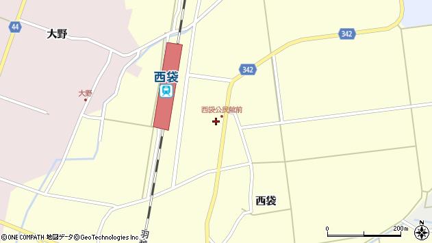 山形県東田川郡庄内町西袋駅前61周辺の地図