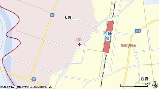 山形県東田川郡庄内町大野太農21周辺の地図