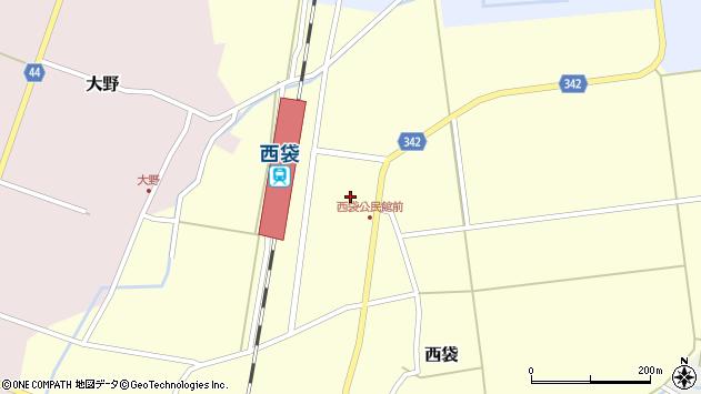 山形県東田川郡庄内町西袋駅前36周辺の地図