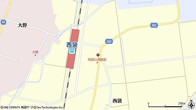 山形県東田川郡庄内町西袋駅前30周辺の地図