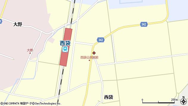 山形県東田川郡庄内町西袋駅前25周辺の地図