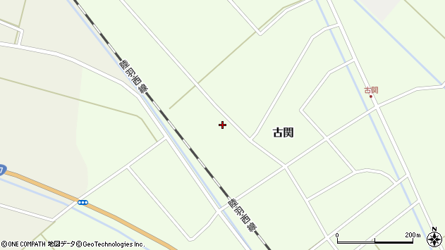 山形県東田川郡庄内町古関西の下割20周辺の地図
