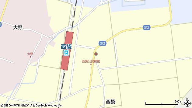山形県東田川郡庄内町西袋駅前24周辺の地図