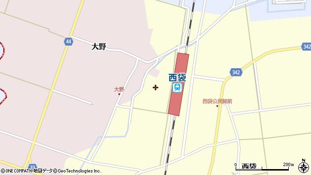 山形県東田川郡庄内町西袋西割周辺の地図