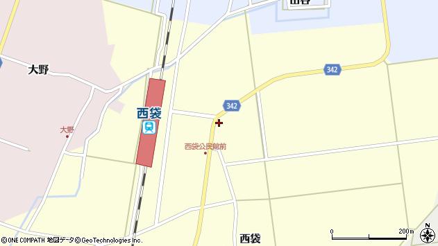山形県東田川郡庄内町西袋駅前22周辺の地図