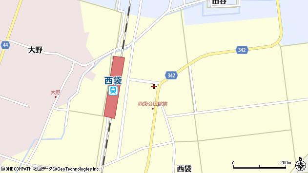 山形県東田川郡庄内町西袋駅前27周辺の地図