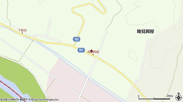 山形県酒田市地見興屋村東34周辺の地図