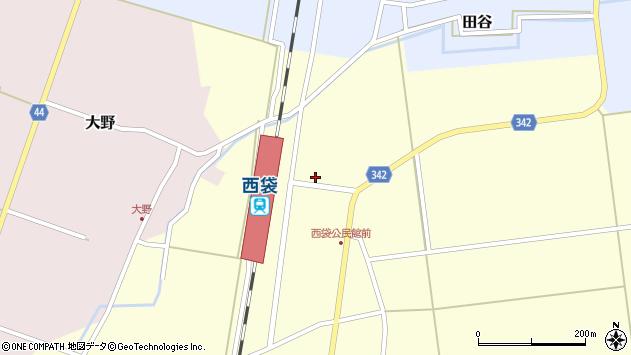 山形県東田川郡庄内町西袋駅前14周辺の地図