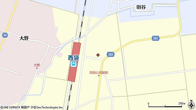山形県東田川郡庄内町西袋駅前11周辺の地図