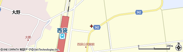 山形県東田川郡庄内町西袋駅前9周辺の地図