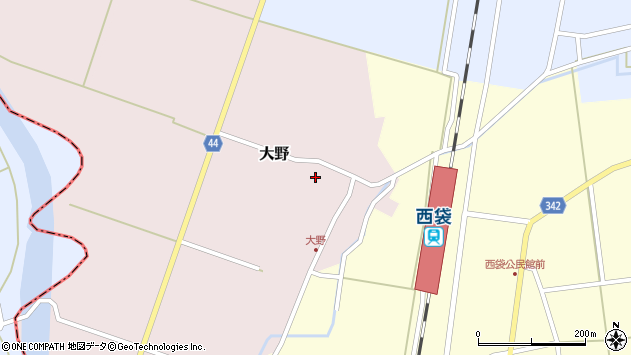 山形県東田川郡庄内町大野太農40周辺の地図
