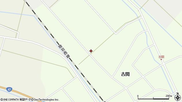 山形県東田川郡庄内町古関西の下割周辺の地図