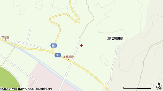 山形県酒田市地見興屋村東周辺の地図