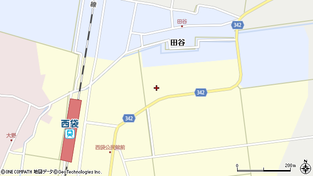 山形県東田川郡庄内町西袋五十枚周辺の地図