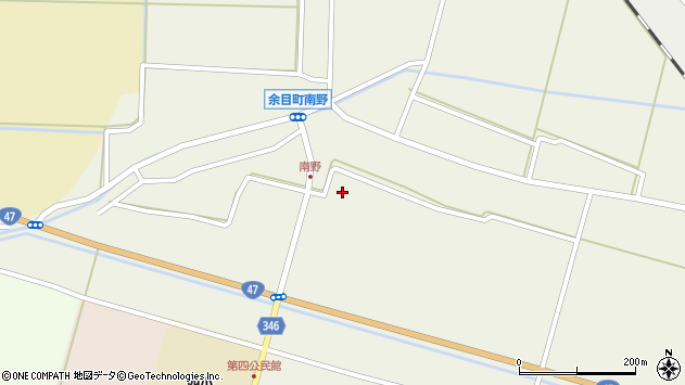 山形県東田川郡庄内町南野南浦周辺の地図