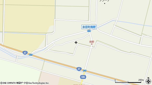山形県東田川郡庄内町南野南浦118周辺の地図