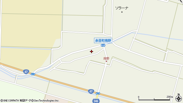 山形県東田川郡庄内町南野南浦105周辺の地図