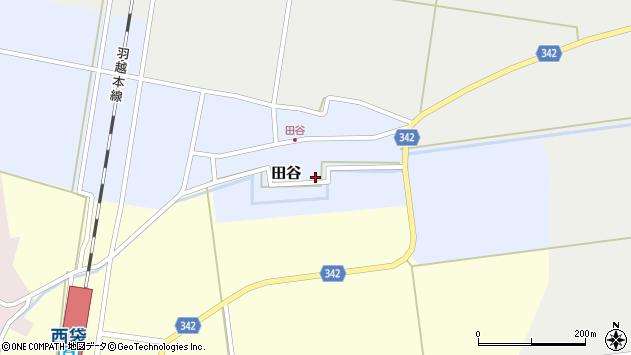 山形県東田川郡庄内町田谷村上前田周辺の地図