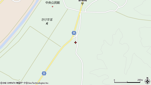 山形県最上郡鮭川村京塚1386周辺の地図