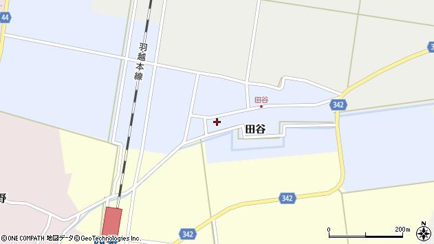 山形県東田川郡庄内町田谷谷田60周辺の地図