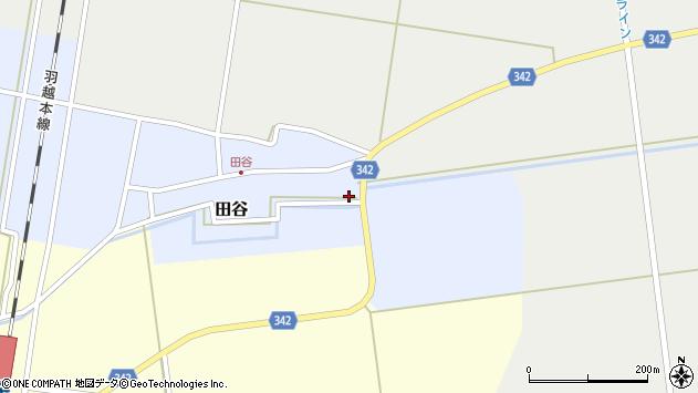 山形県東田川郡庄内町田谷谷田1周辺の地図