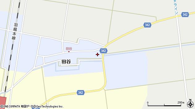 山形県東田川郡庄内町田谷谷田6周辺の地図