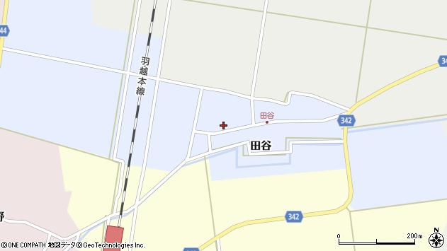 山形県東田川郡庄内町田谷谷田55周辺の地図