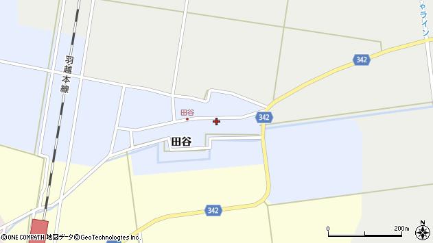 山形県東田川郡庄内町田谷谷田周辺の地図