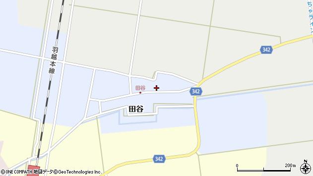 山形県東田川郡庄内町田谷谷田28周辺の地図