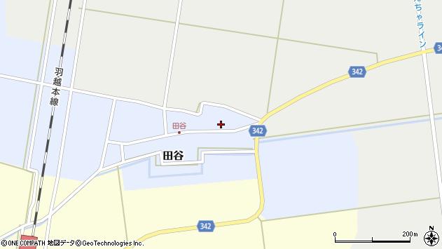 山形県東田川郡庄内町田谷谷田21周辺の地図