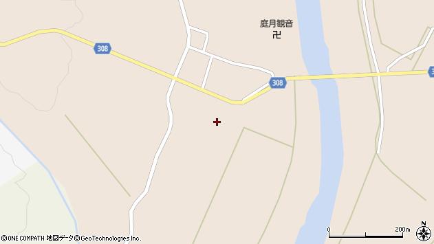 山形県最上郡鮭川村庭月2946周辺の地図