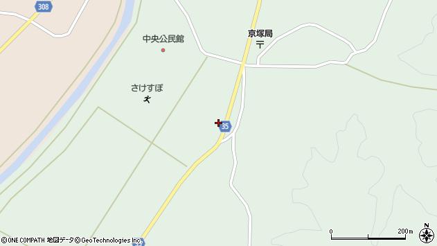 山形県最上郡鮭川村京塚1407周辺の地図