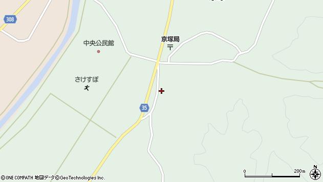 山形県最上郡鮭川村京塚1362周辺の地図