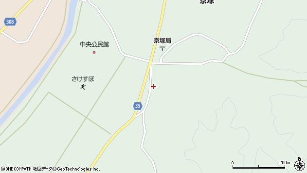 山形県最上郡鮭川村京塚1148周辺の地図