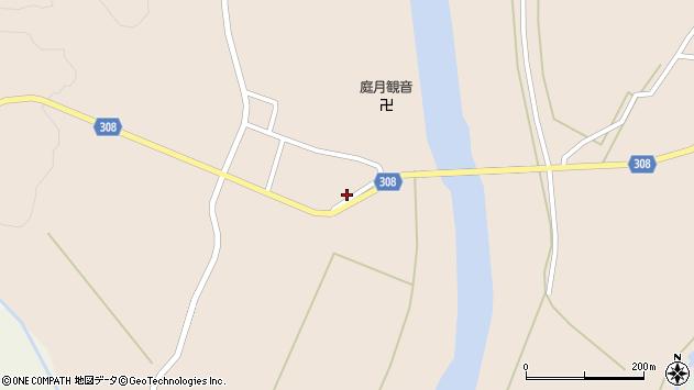 山形県最上郡鮭川村庭月2971周辺の地図