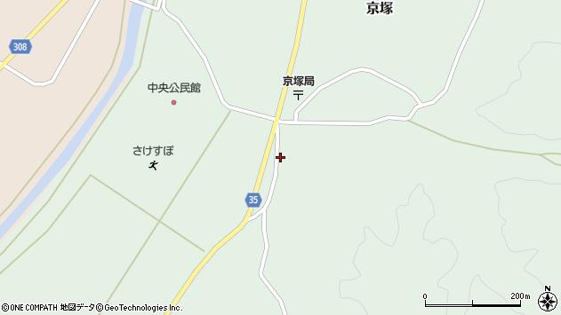 山形県最上郡鮭川村京塚1151周辺の地図