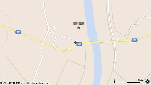 山形県最上郡鮭川村庭月2974周辺の地図