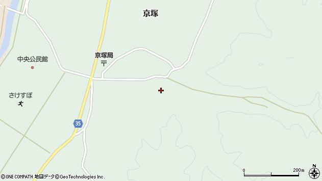 山形県最上郡鮭川村京塚3106周辺の地図