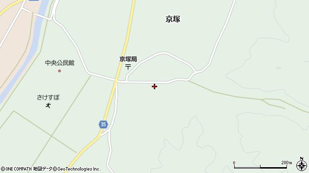 山形県最上郡鮭川村京塚1115周辺の地図